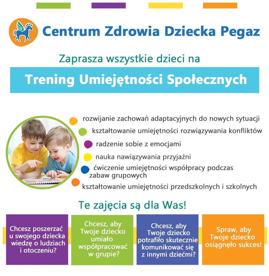 Trening umiejętności społecznych poradnia pegaz Gdańsk Gdynia Rumia Banino Słupsk